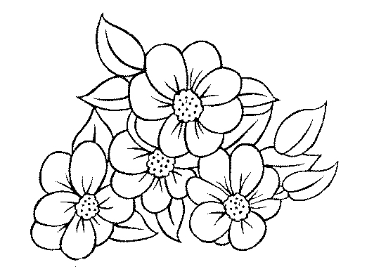 Bouquet Of Flowers 107 Nature Printable Coloring Pages
