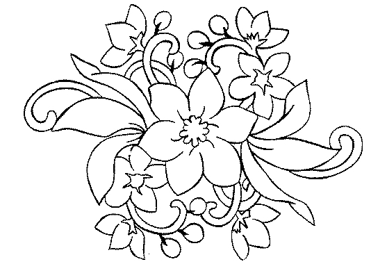 Bouquet de fleur coloriage for Bouquet de fleurs 974