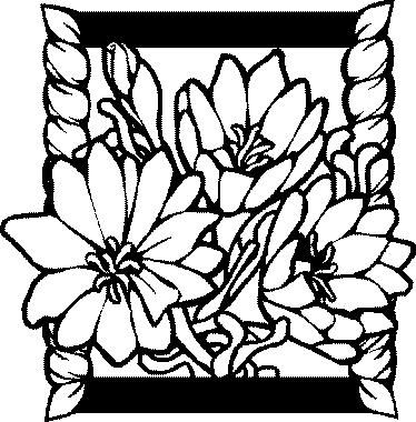Coloriages gratuits fleurs et frises bouquet fleur f te for Envoie de fleurs en ligne