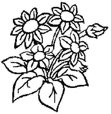 Bouquet de fleurs dessin simple - Fleuriste dessin ...