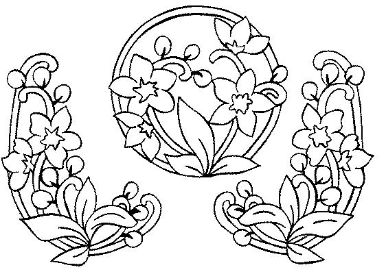 Coloriages page 117 - Coloriage frise fleurs ...