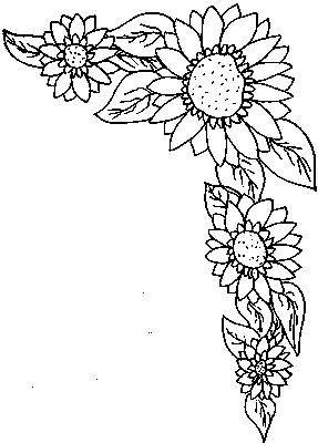 Coloriages fleurs et frises page 4 ecologie - Coloriage bouquet de fleurs ...