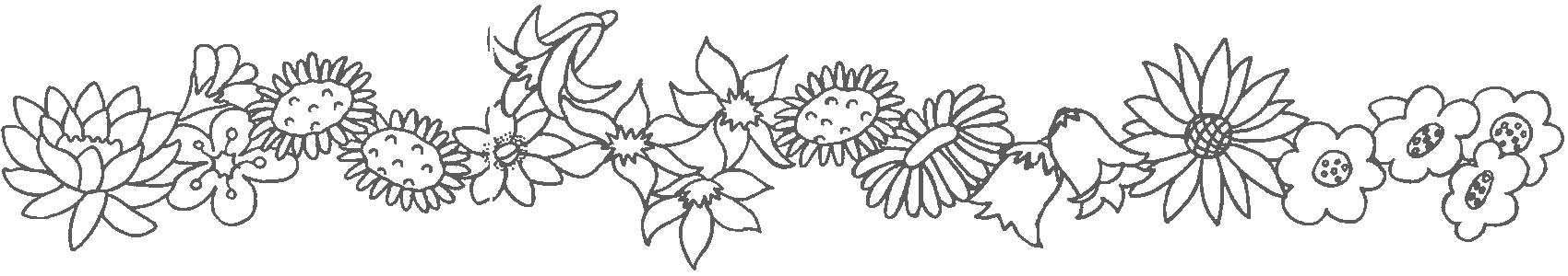 frise,coloriage,fleurs,24
