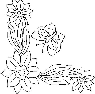 Coloriages fleurs et frises page 4 ecologie - Dessin de bouquet de fleurs ...