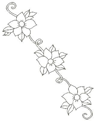 Coloriages gratuits fleurs et frises bouquet fleur f te des grands m res - Coloriage frise fleurs ...