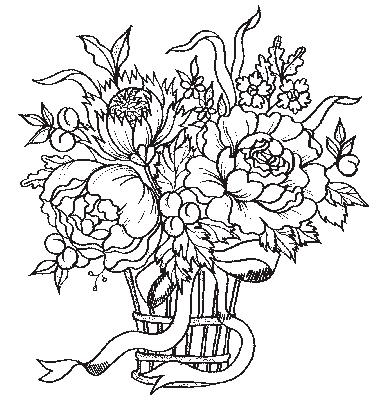 Coloriages fleurs et frises page 3 ecologie - Dessin de bouquet de fleurs ...