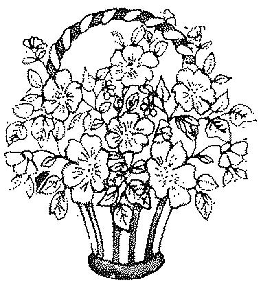 Coloriages fleurs et frises page 2 ecologie - Dessin de bouquet de fleurs ...