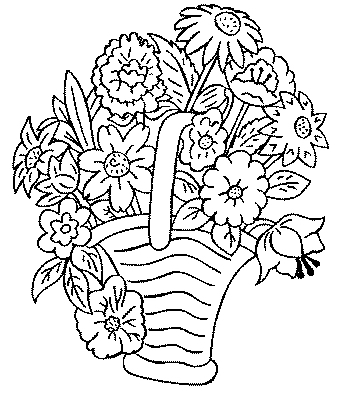 coloriage en ligne bouquet fleur fête des grands mères gratuit
