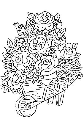 Coloriage bouquet de fleurs - Dessin de bouquet de fleurs ...