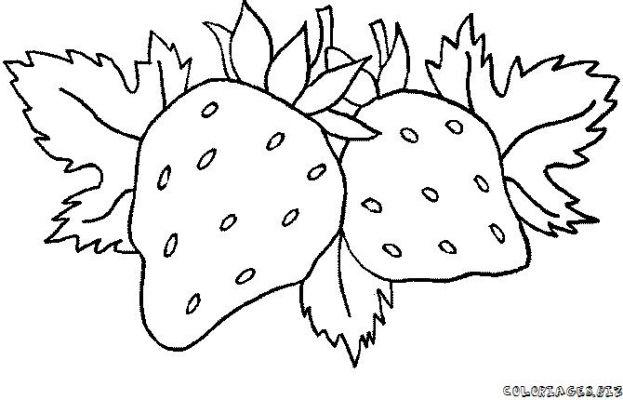 Coloriages fruits page 3 printemps - Fruits coloriage ...