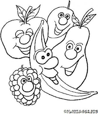 Coloriages fruits et l gumes rigolos page 1 fruits et - Fruits a colorier et a imprimer ...