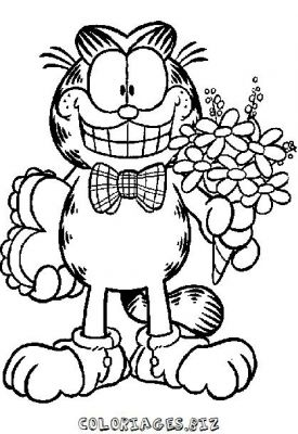 Coloriage Facile Garfield.Coloriages Garfield Page 1 Heros