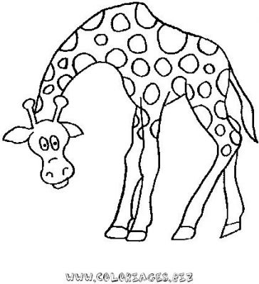 Coloriages girafes page 1 animaux - Coloriage animaux zoo ...