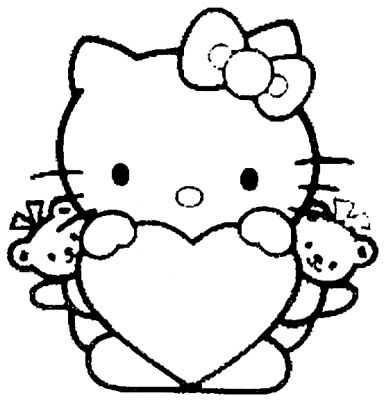 Coloriages page 1 - Coloriage hello kitty cirque ...