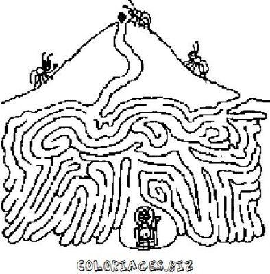 Coloriages labyrinthes vrac page 1 labyrinthe - Dessin labyrinthe ...