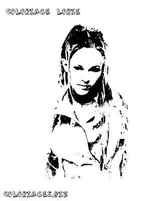 Colorier lorie - Coloriage chanteuse ...