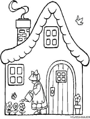 Coloriages maison et monument page 1 maisons - Maison de campagne dessin ...