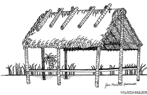 Coloriages maison et monument page 1 maisons - Coloriage de cabane ...