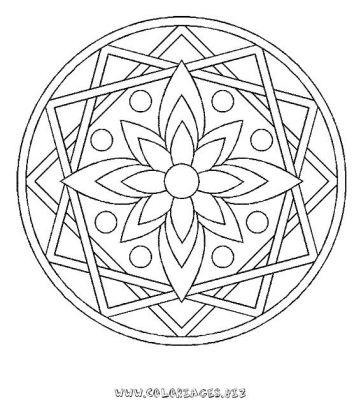 Coloriage En Ligne Mandala Gratuit Mandalas A Colorier