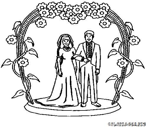 Coloriage de mariage - Coloriage mariage ...