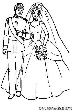 Coloriages mariage page 1 saint valentin et amour - Coloriage mariage a imprimer ...