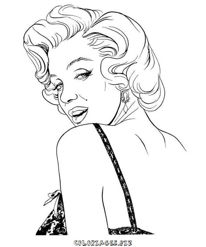 printable marilyn monroe coloring pages - photo#2