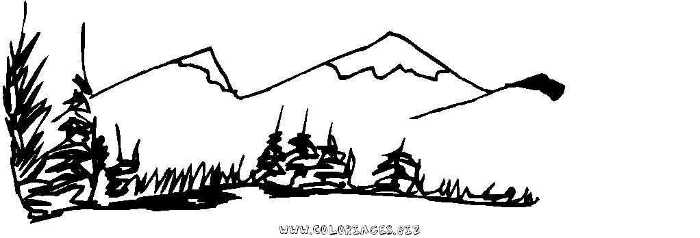 Coloriages gratuits montagne et randonn es coloriage montagne 1 - Montagne coloriage ...