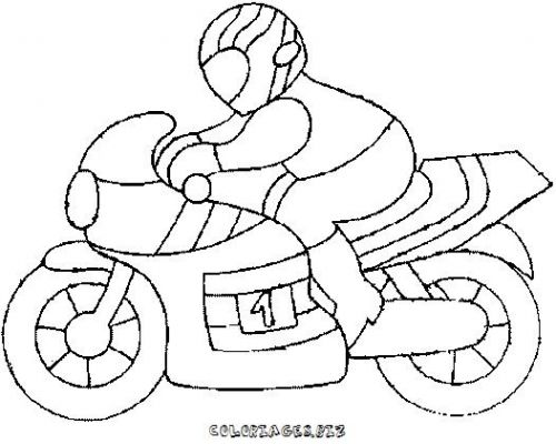 Coloriages motos page 1 transports - Dessin moto simple ...
