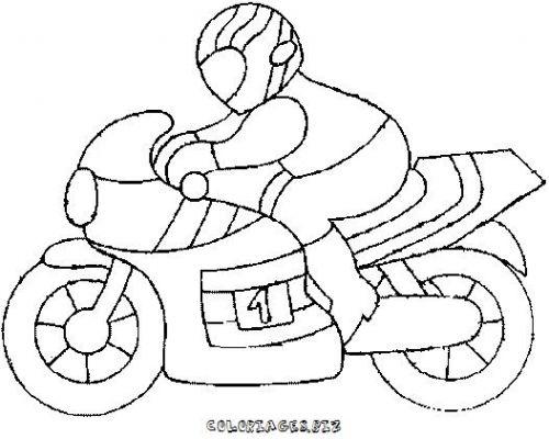 Coloriages motos page 1 transports - Dessin moto a colorier ...