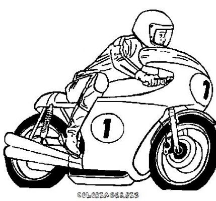 Coloriage en ligne coloriage moto gratuit transports - Coloriage de cars gratuit ...