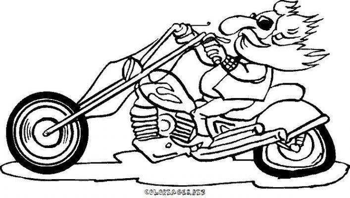 Coloriages motos page 1 transports - Dessin a imprimer moto ...