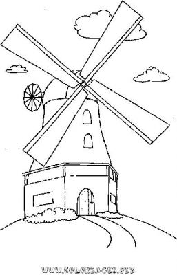 Coloriages moulins page 1 maisons - Coloriage farine ...