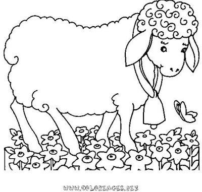 Coloriages gratuits moutons 63coloriage mouton - Mouton en dessin ...