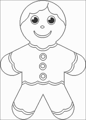 Coloriages gratuits no l bonhomme pain d 39 pice homme - Coloriage petit bonhomme de pain d epice ...