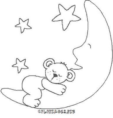 Coloriage nuit my blog - La lune coloriage ...
