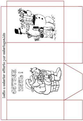 Coloriages bricolage d coupage de noel page 1 noel - Decoupage maison a imprimer ...
