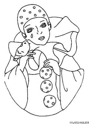 Pierrot et colombine coloriage - Dessin de pierrot ...