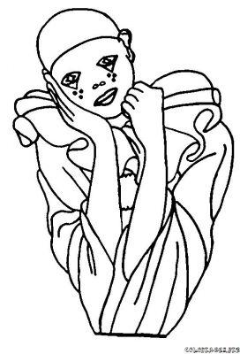 Pierrot colombine dessin - Dessin de pierrot ...