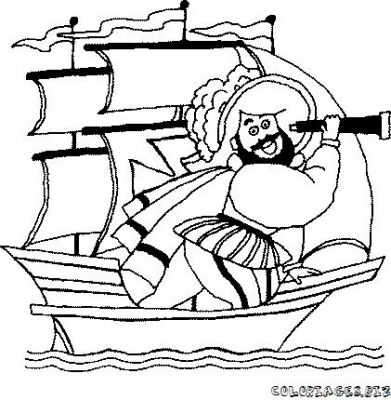 Coloriage bateau pirate - Bateau pirate dessin ...