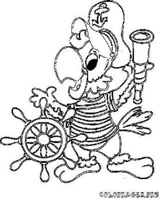 Perroquet pirate coloriage - Pirates coloriage ...