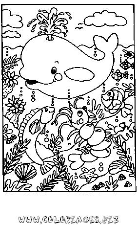 Coloriage Animaux Mer.Coloriages Mer Et Poissons Page 1 Animaux