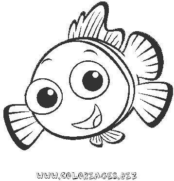 Coloriages mer et poissons page 13 animaux - Coloriage de poisson de mer ...