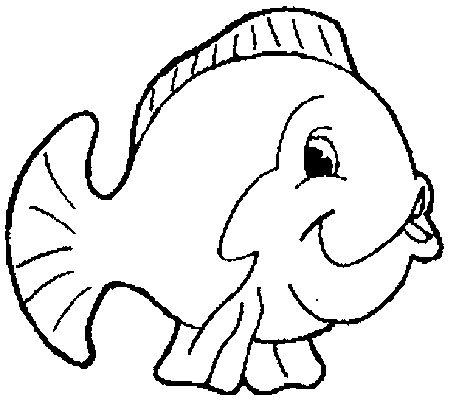 Coloriages mer et poissons page 10 animaux - Dessin de poisson facile ...