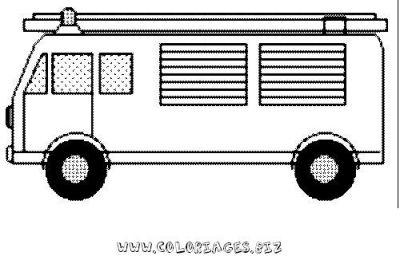 pompier_coloriage_14jpg camion de pompier et echelle