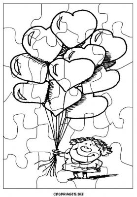 Coloriages gratuits puzzles d couper d coupage puzzle for Puzzle a colorier