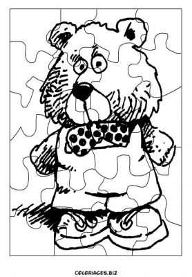 Coloriages puzzles d couper page 1 d coupages bricolages for Puzzle a colorier gratuit