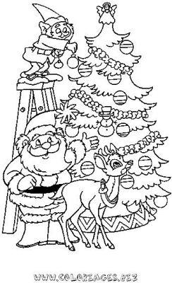 Coloriages Sapins de Noel à décorer page 1 Noel