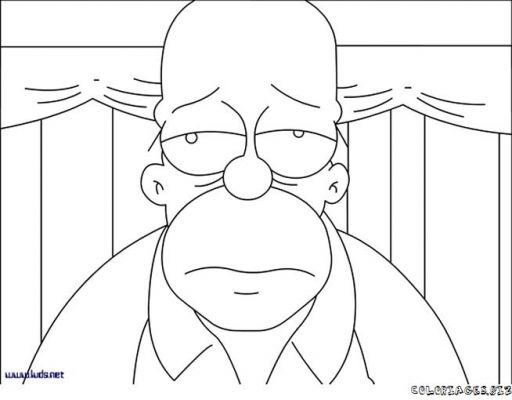 Dessin de les simpson - Coloriage homer simpson ...
