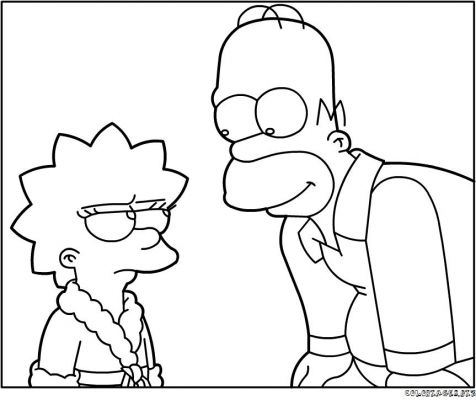 Coloriages simpson page 1 h ros - Coloriage homer simpson ...
