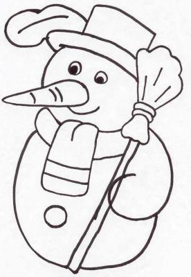 Coloriages au ski sport d 39 hiver page 1 noel - Bonhomme de neige coloriage a imprimer ...